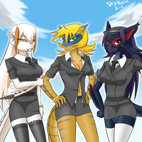 MHp3-Wyverns Group by SkyKain