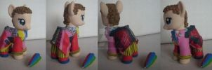 My little Pony Custom G4 The 6th Doctor by BerryMouse