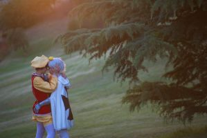 Hold your breath - PrussiaxSpain cosplay by Voldiesama