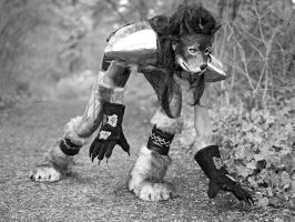 Me in my worgen cosplay by RowanRayne