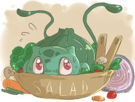 Bulbasaur Salad by SOLAR-CiTRUS