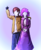 Bonnie and Alister catch up. by AtomicWarpin