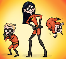 Incredibles Parr Children by ph00