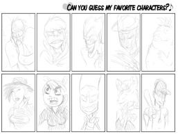 Guess my Favourite characters by FungalZombieX