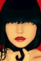 red lips kisses by indahandriani