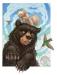 Wolfy and The Black Bear by Shadow-Wolf