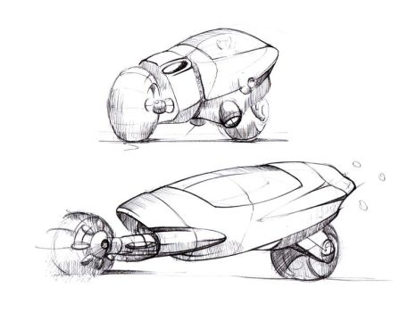 Motorbike concept sketches by Elkins