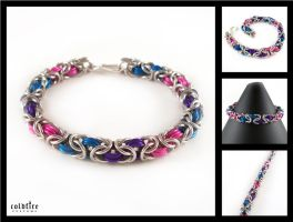 Berry Byzantine Bracelet by coldfirecustoms