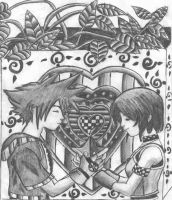 Sora and Kairi by physicslover