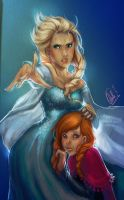 Frozen. Elsa and Anna. by Minemiko