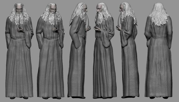 Gandalf study by DigiDemonsculpture