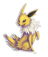 Jolteon Poses by BeeZee-Art
