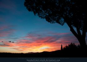 Sunset over Tuscany 04 by kuschelirmel-stock