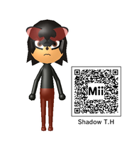 My Shadow The Hedgehog Mii by wererapter-nelson