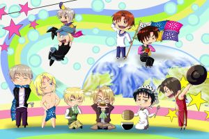 Wrap Hetalia Around the World by Sarieu