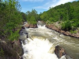 Great Falls of the Potomac 64 by Dracoart-Stock