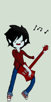 Adventure Time: Marshall Lee - Jammin'! by icanhascheezeburger
