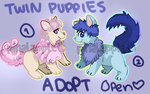 Twin Puppies Auction open! by pinalapple