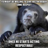 No Respect For Bieber! by ToaNaruto