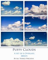 Puffy Clouds Set by AllThingsPrecious