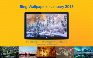 Bing Wallpapers - January 2015 by Misaki2009