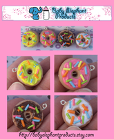 .: Doughnut Charms :. by moofestgirl