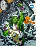 She Hulk Canvas by cuccadesign