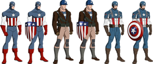 The First Avenger Uniform Line-up (Bourassa Style) by OWC478