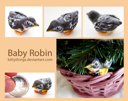 Baby Robin - GIFT by Bittythings