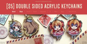 Keychains - Love Live and Gekkan Shoujo by Rosuuri