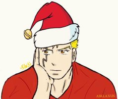 Laxus ready for Christmas by afrillia