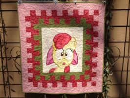 Apple Bloom Quilt Front by reluctantbrony