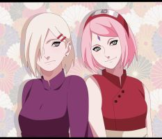 Adult Ino and Sakura. by Tantoki
