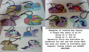 Pony Charms or lanyard clips all laminated by lcponymerch
