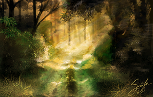 Sunny path. Speedpaint practise by Sintija