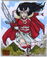 Lady Sif artist proof commission by mdavidct