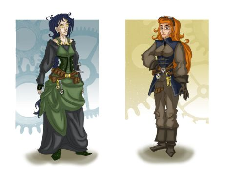 Steampunk: Veda and Shelly by Vedunia