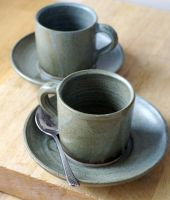 Handmade espresso cups by scarlet1800