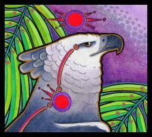 Red Circle Harpy Eagle by Ravenari