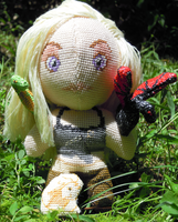 Daenerys Targareyn and Dragons 3D Cross Stitch by rhaben