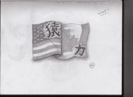 chinease us canada flag tat by FlYGiRl118