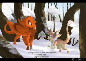 Do you want to build a snowman? (Art Trade) by Eweeka