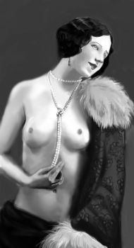 Woman with pearls by numb182