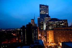 Evening Boston Skyline by joshuavisionz