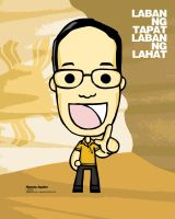 My Portrait of Noynoy Aquino by eggay