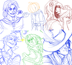 Wizard101 and Pirate101 doodles by NEOmi-triX