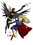 MT Supergirl and Batgirl colors by WaterWizz