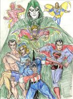 Invaders meet the heroes of Earth 2 by theaven