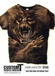 Werewolf custom bleached T : currently $75 shipped by EisArt