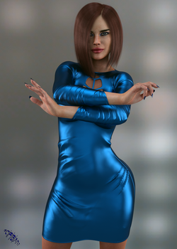 Devil With a Blue Dress by scifigiant